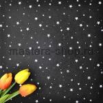 Фетр со звездами. Черный