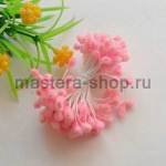 Тычинки большие сахарные Светло-розовые (5 мм)