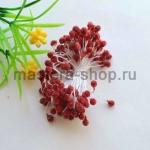 Тычинки большие сахарные Красные темные (5 мм)
