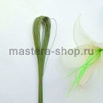 Проволока для цветов из капрона: 0,45мм (№26) Зеленая в пластике