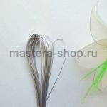 Проволока для цветов из капрона: 0,9мм (№20). Серебро