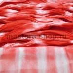Капрон для цветов Красно-оранжевый+Белый