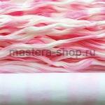 Капрон для цветов Розовый светлый+Белый