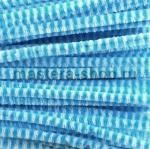 Проволока шенил (синель) Голубой-белый