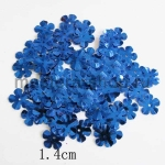Пайетки цветок 14 мм пятилепестковый Синий - 100шт.