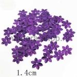 Пайетки цветок 14 мм шестилепестковый Фиолетовый - 120шт