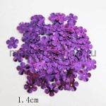 Пайетки цветок 14 мм пятилепестковый Фиолетовый - 100шт.