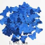 Пайетки бабочка 17*22 мм голографик Синяя - 1шт
