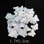 Пайетки бабочка 17*22 мм голографик Серебро - 1шт