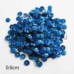 Пайетки круглые 6 мм голографик Синие - 5 гр.