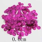 Пайетки круглые 6 мм Малиновые - 10 гр.