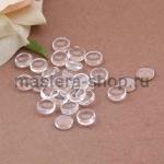 Стеклянные капли (марблс) прозрачные. Круглые. 8 мм. 10 шт.