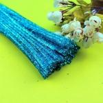 Блестящая проволока шенил (синель) Голубая