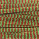 Проволока шенил (синель) Красно-зеленый