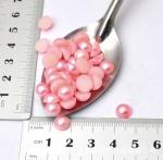 Полужемчужины 8 мм. 10 шт. Розовый