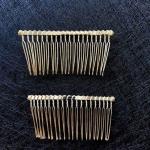 Основа для гребешка металл. 20 зубьев. Золото