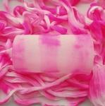 Капрон для цветов Ярко-розовый+Розовобелый