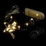 Светодиодная гирлянда Нить (Роса) 1 м-10 диодов. Теплый свет