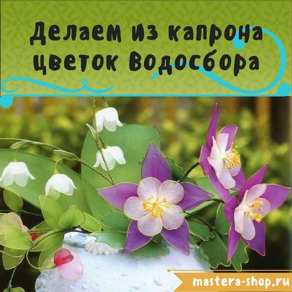 Цветы из капрона своими руками. Как сделать цветы Водосбора поэтапно
