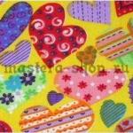 Ткань: любовь, сердечки