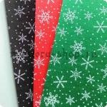 Фетр со снежинками 1 мм