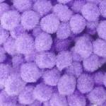 Помпоны 18-20 мм. Фиолетовый светлый. 5 шт.