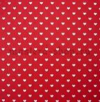 Фетр с сердечками. Красный