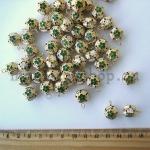 Бубенчики золотые с зелеными цветочками