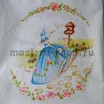 Мотив для подушки: Дама в голубом
