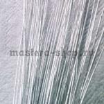Проволока для цветов из капрона: 0,55 мм (№24). Серебро