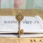 Винтажная подвеска Ключ цветок