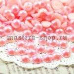 Полужемчужины 3 мм. 10 шт. Розовые