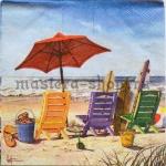 Салфетка Шезлонги на пляже