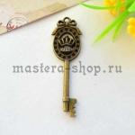 Винтажная подвеска Ключ с короной