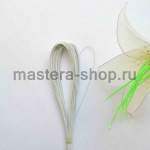 Проволока для цветов из капрона: 0,45мм (№26) Белая в пластике
