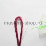 Проволока для цветов из капрона: 0,45мм (№26) Красный