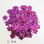 Пайетки цветок 14 мм пятилепестковый Малиновый - 100шт.