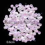 Пайетки круглые 6 мм Бело-розовые - 10 гр.