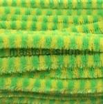 Проволока шенил (синель) Зелено-лимонный