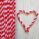 Проволока шенил (синель) двойная Красно-белая