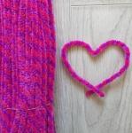 Проволока шенил (синель) двойная Лилово-розовая