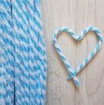 Проволока шенил (синель) двойная Голубой-белый