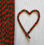 Проволока шенил (синель) двойная Красно-зеленый