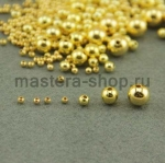 Бусина. Золото. 10 мм. 1 шт.
