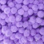 Помпоны 15 мм.  Фиолетовый светлый. 5 шт.