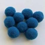 Помпоны 18-20 мм. Синие темные. 5 шт.