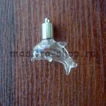 Бутылочка стеклянная Дельфин