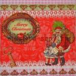 Салфетка Санта с девочкой