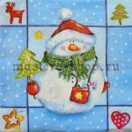 Салфетка Пухлый снеговик