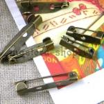 Основа для броши пришивная 35 мм. Бронза